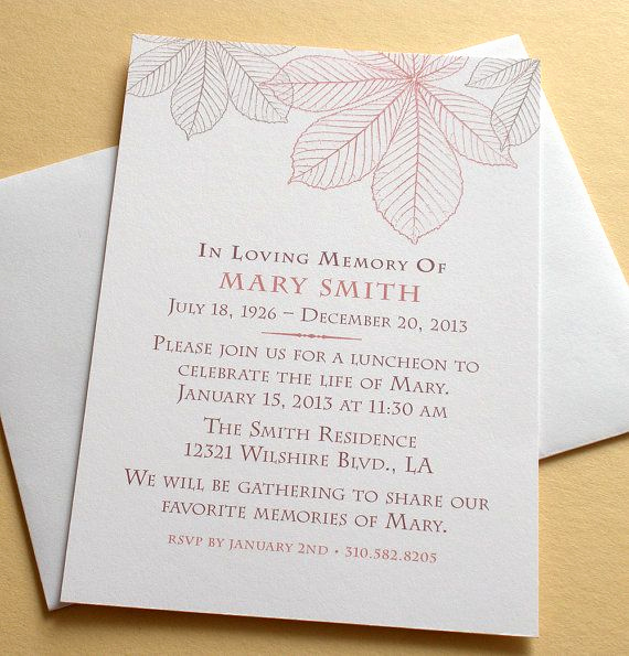 Memorial Service Invitation Wording Luxury 27 Best Images About Memorial Celebration Of Life Ideas On