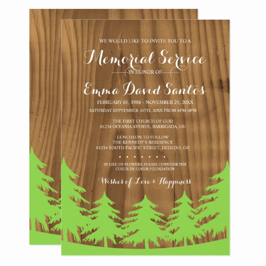 Memorial Service Invitation Wording Luxury Memorial Service Invitations