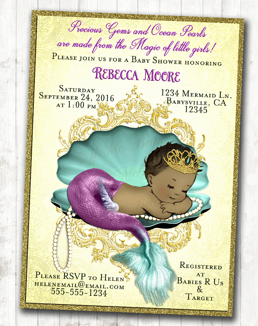 Mermaid Baby Shower Invitation Wording Beautiful Mermaid Baby Shower Invitation Little Mermaid Baby Shower