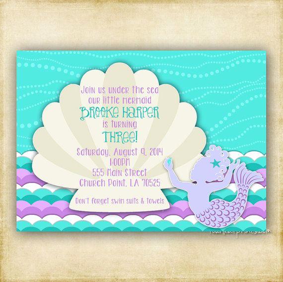 Mermaid Baby Shower Invitation Wording Best Of Little Girl Mermaid Silhouette Baby Shower or Birthday