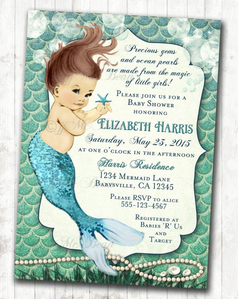 Mermaid Baby Shower Invitation Wording Best Of Under the Sea Baby Shower Ideas Baby Ideas