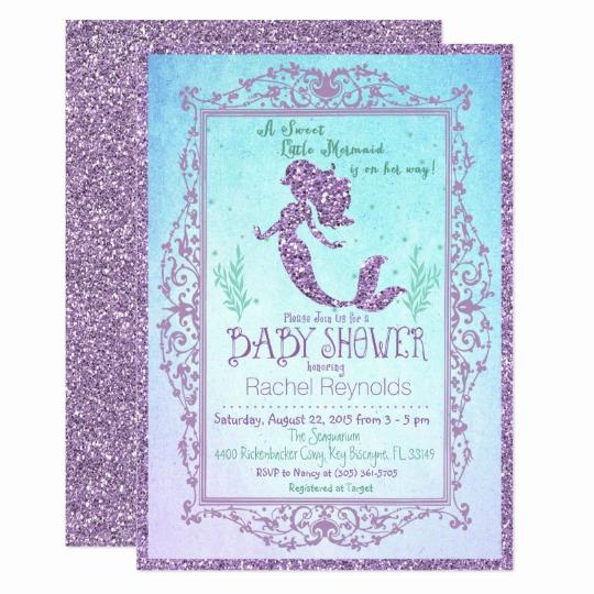 Mermaid Baby Shower Invitation Wording Elegant Mermaid Under the Sea Baby Shower Invitation