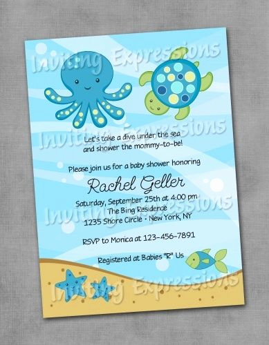 Mermaid Baby Shower Invitation Wording Elegant Under the Sea Baby Shower Invitation Wording