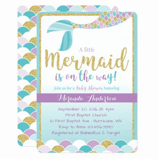 Mermaid Baby Shower Invitation Wording Unique Mermaid Baby Shower Invitation