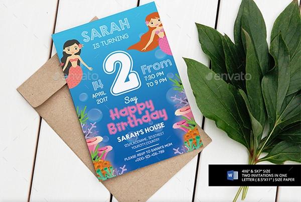 Mermaid Birthday Invitation Templates Awesome 9 Mermaid Party Invitations Jpg Vector Eps Ai