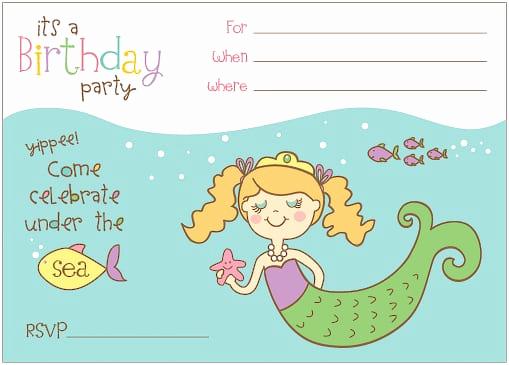 Mermaid Birthday Invitation Templates Unique Free Mermaid Invitation Template