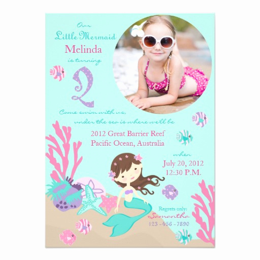 Mermaid Invitation Template Free Awesome Mermaid Birthday Party Invitations – Free Printable