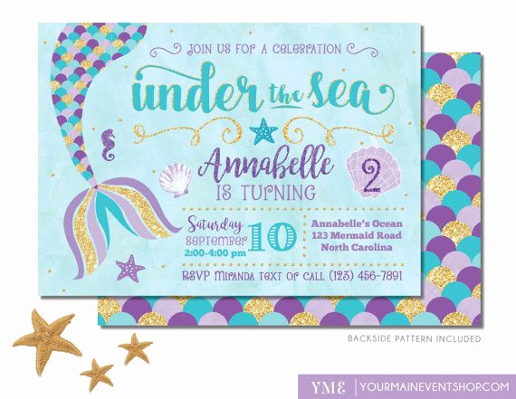 Mermaid Tail Invitation Template Beautiful 1000 Ideas About Mermaid Invitations On Pinterest