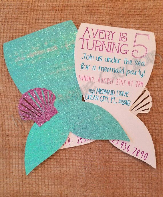 Mermaid Tail Template for Invitation Awesome Best 20 Mermaid Invitations Ideas On Pinterest