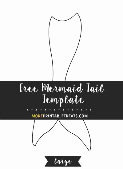 Mermaid Tail Template for Invitation Best Of Free Mermaid Tail Template