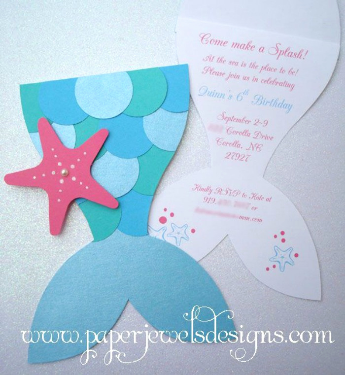 Mermaid Tail Template for Invitation Luxury 21 Marvelous Mermaid Party Ideas for Kids