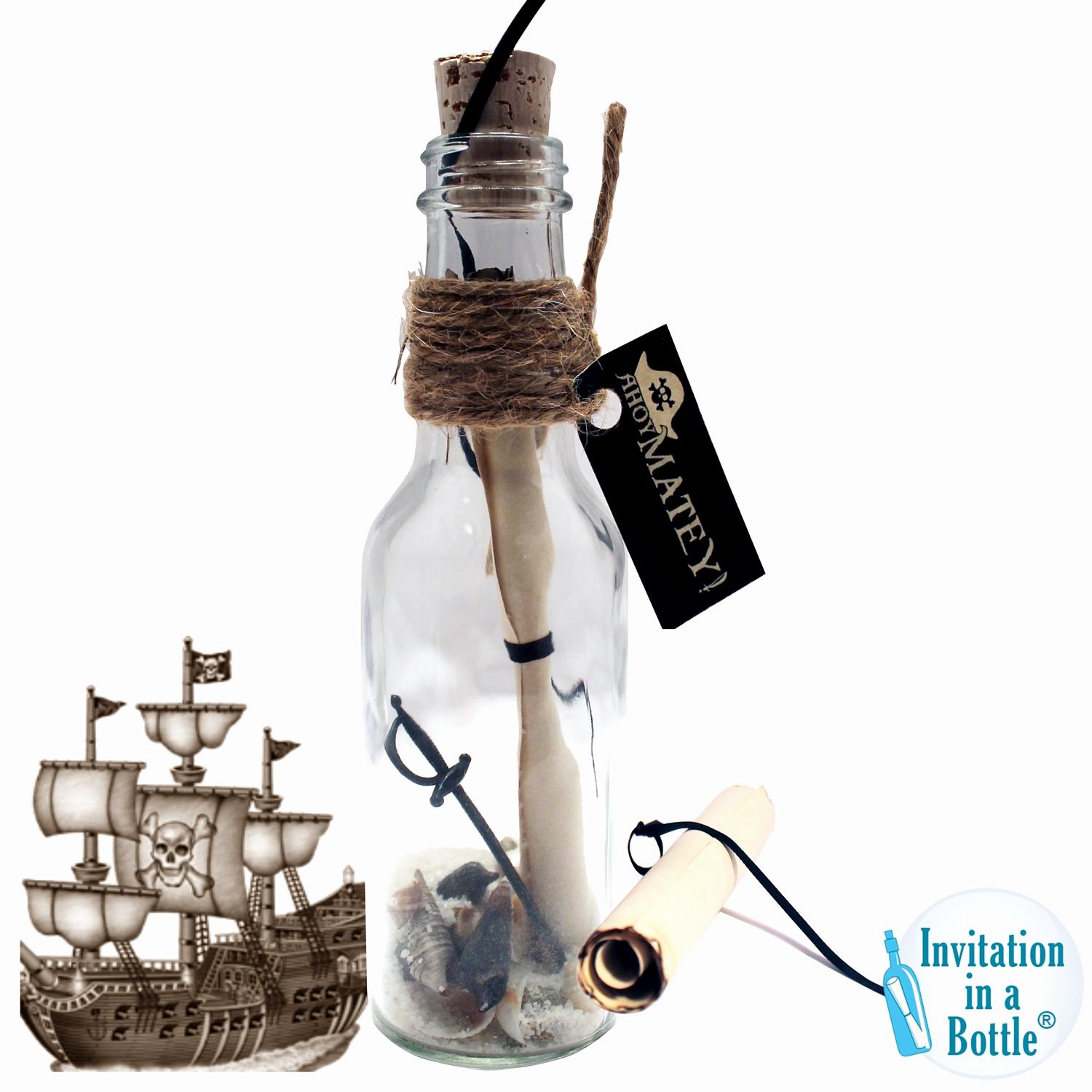 Message In A Bottle Invitation Beautiful Message In A Bottle Party Invitations Easy Kit 10