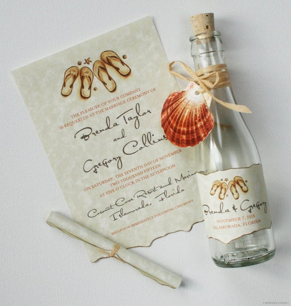 Message In A Bottle Invitation Beautiful Message In A Bottle Wedding Invitations Bottle Invitations