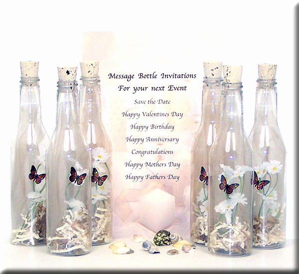 Message In A Bottle Invitation Fresh Message In A Bottle Romantic Gift Ideas
