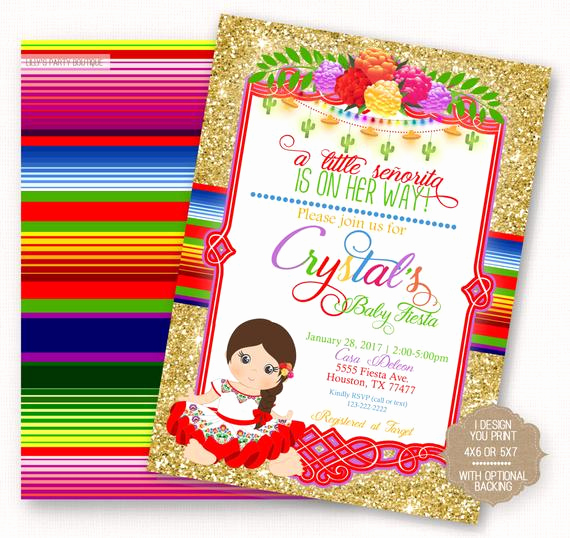 Mexican Fiesta Invitation Templates Free Best Of Fiesta Baby Shower Fiesta Mexican Baby Fiesta Invite Mexican