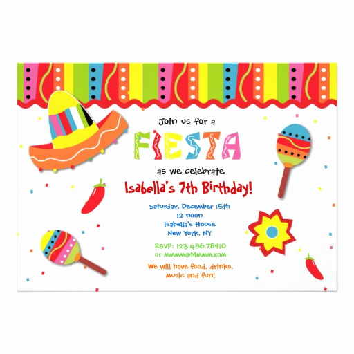 Mexican Fiesta Invitation Templates Free Best Of Mexican Fiesta Birthday Party Invitations