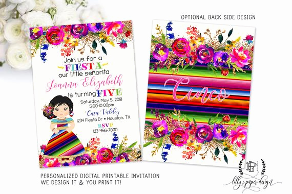 Mexican Fiesta Invitation Templates Free Lovely Fiesta Birthday Invitation Mexican Fiesta Birthday