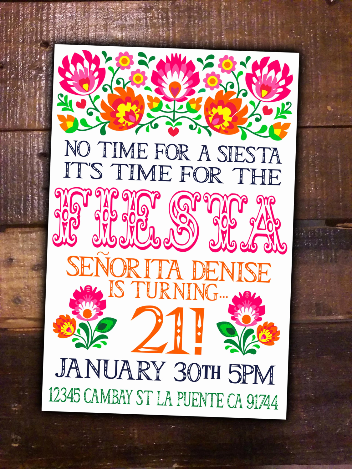 Mexican Fiesta Invitation Templates Free Lovely Fiesta Party Diy Printable Invite Birthday Mexican Girl theme
