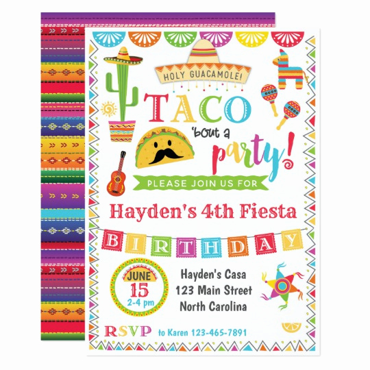 Mexican Fiesta Invitation Templates Free Luxury Fiesta Birthday Invitation Mexican Fiesta Party