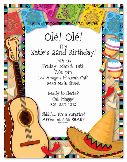 Mexican Fiesta Invitation Templates Free New Mexican Fiesta Invitations