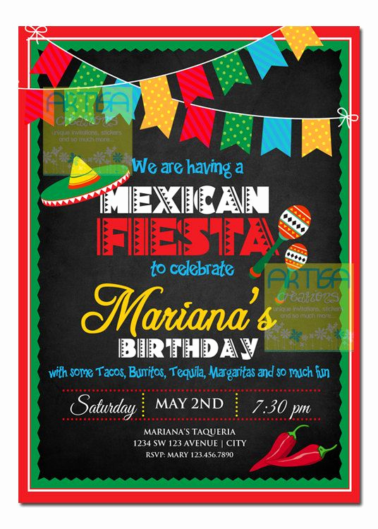 Mexican Fiesta Invitation Templates Free Unique 208 Best Images About event theme Cinco De Mayo On Pinterest