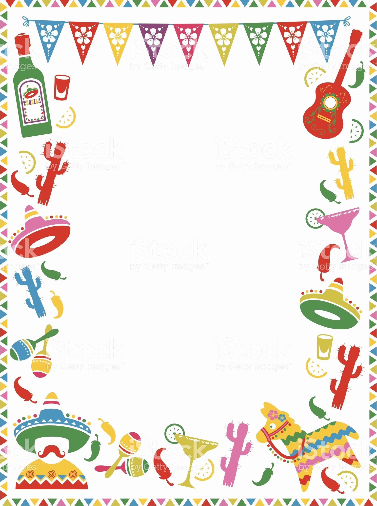 Mexican Fiesta Invitation Templates Free Unique A Mexican themed Border Ideal for Menus or Party Invites