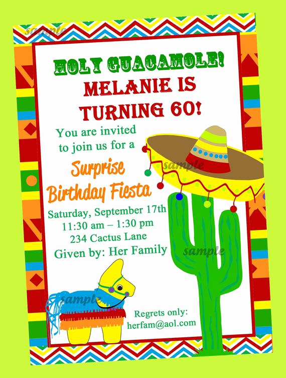 Mexican Fiesta Invitation Templates Free Unique Fiesta Party Invitation Printable or Printed with Free