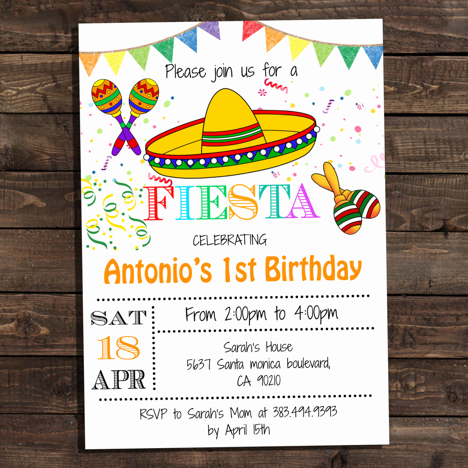 Mexican Fiesta Invitation Templates Free Unique White Fiesta Birthday Party Invitations Digital Printable