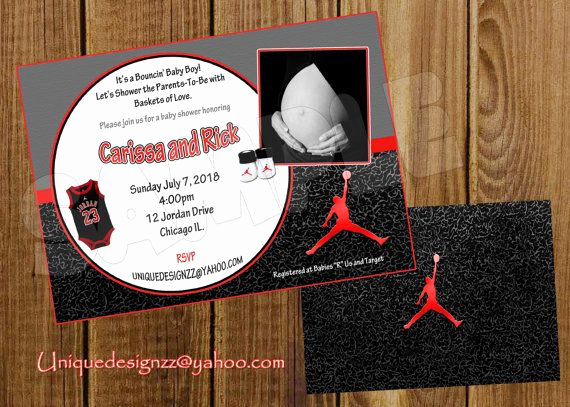 Michaels Baby Shower Invitation Beautiful Michael Jordan Basketball Baby Shower by Uniquedesignzzz