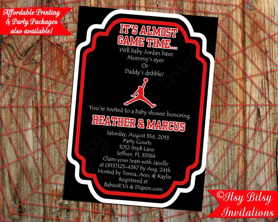 Michaels Baby Shower Invitation Best Of Basketball Air Man Baby Shower Invitation by