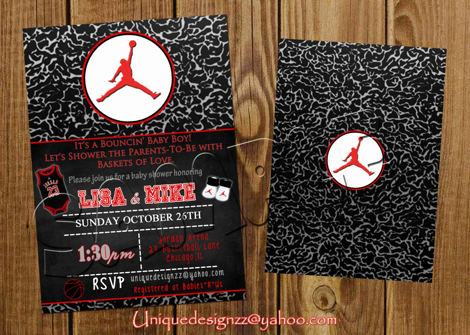 Michaels Baby Shower Invitation Elegant Michael Jordan Baby Shower or Birthday by Uniquedesignzzz
