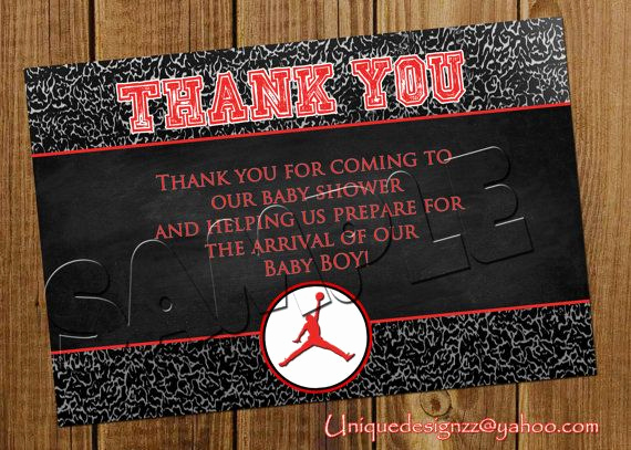 Michaels Baby Shower Invitation Lovely Michael Jordan Baby Shower Thank You Cards by
