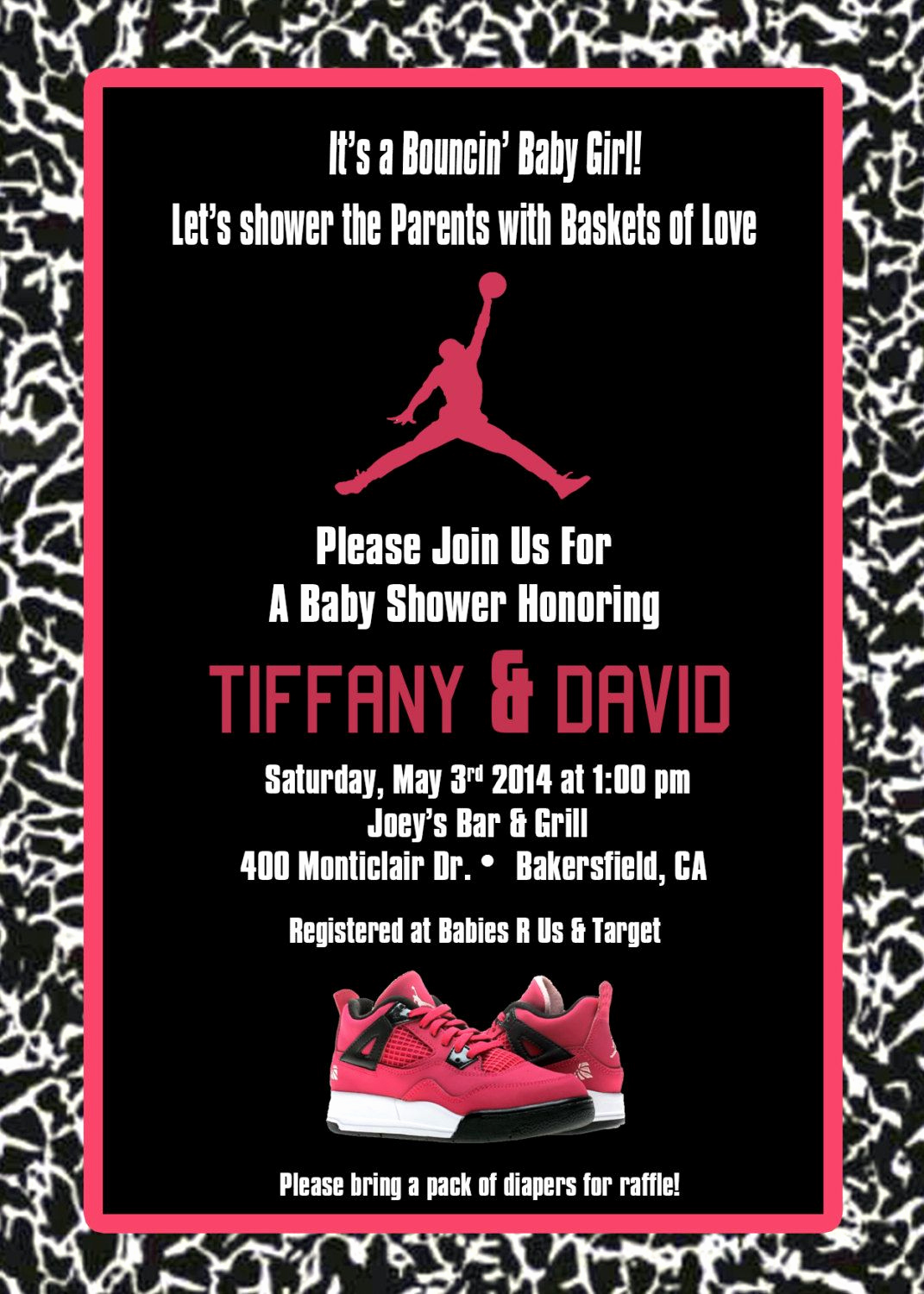 Michaels Baby Shower Invitation Luxury Jordan Baby Shower Invite Pink or Blue by Invitesbyll On