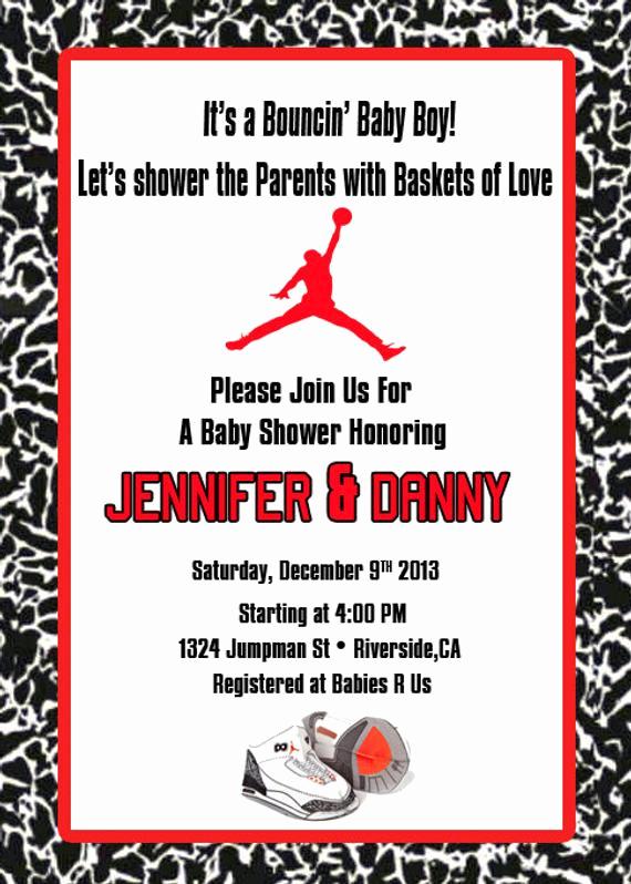 Michaels Baby Shower Invitation New Items Similar to Jordan Red Babyshower On Etsy