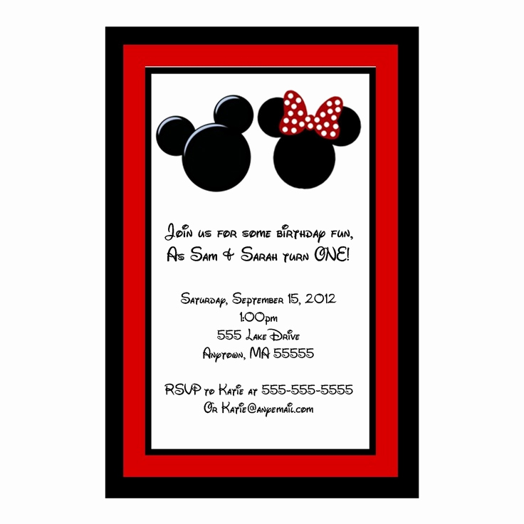 Mickey and Minnie Invitation Awesome 17 Best Images About Party Ideas On Pinterest