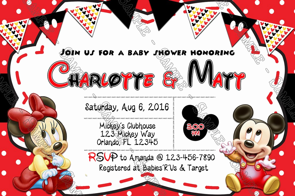 Mickey and Minnie Invitation Beautiful Novel Concept Designs Baby Mickey & Minnie Mouse Baby
