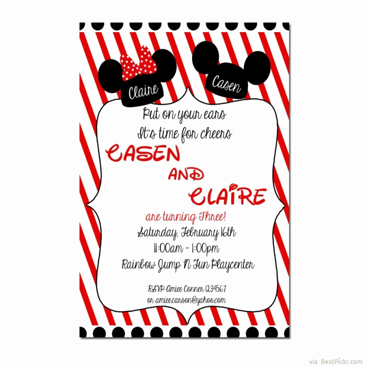 Mickey and Minnie Invitation Lovely Mickey and Minnie Mouse Wedding Invitations