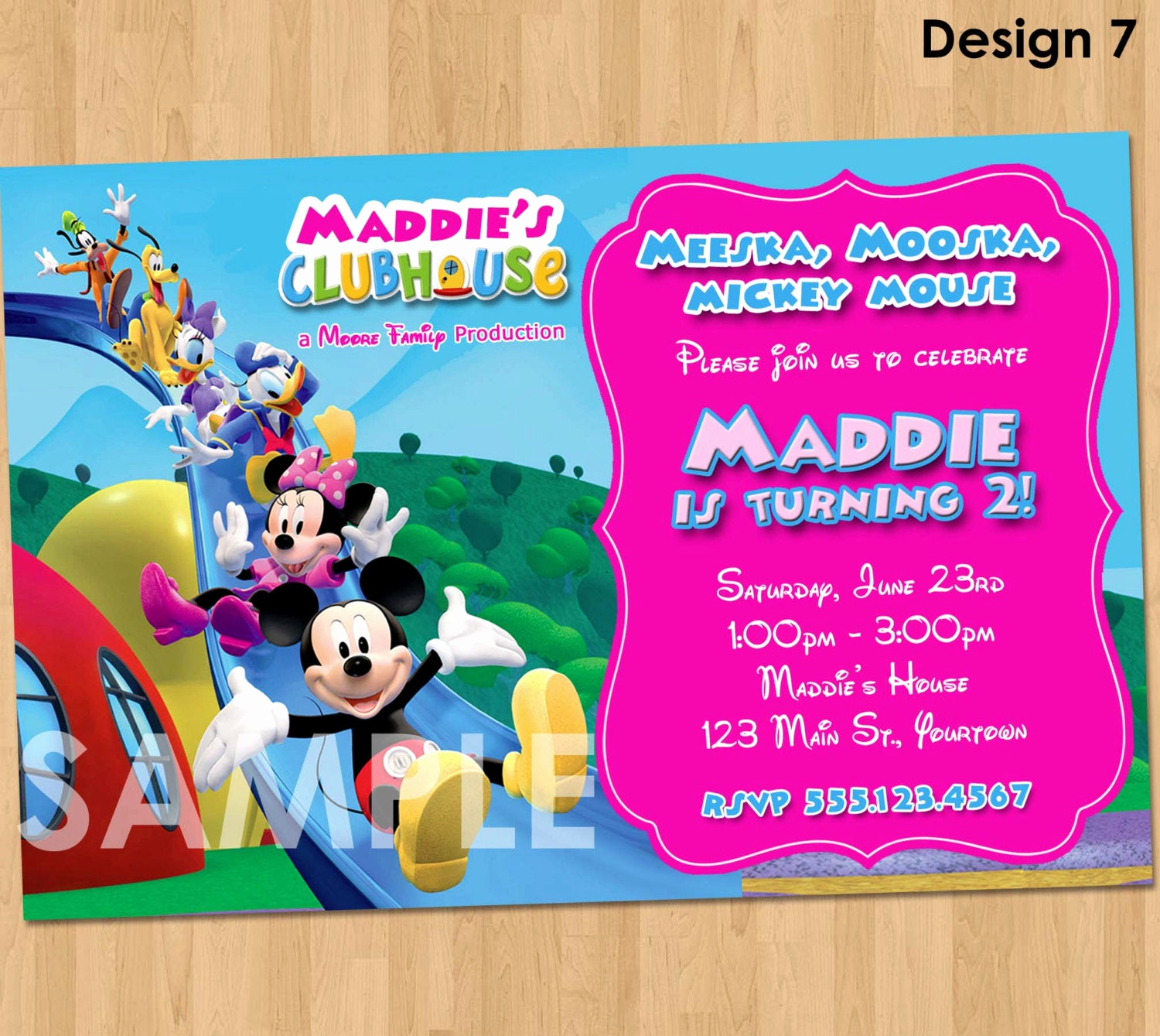 Mickey and Minnie Invitation Lovely Mickey Mouse Clubhouse Minnie Invitation Printable Birthday