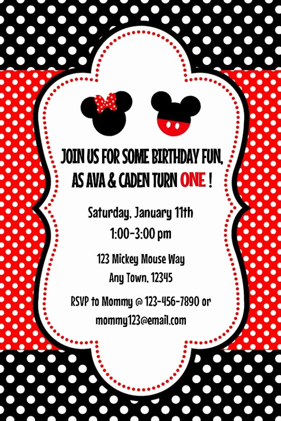 Mickey and Minnie Invitation Templates Beautiful 70 Best Images About Festa Minnie On Pinterest