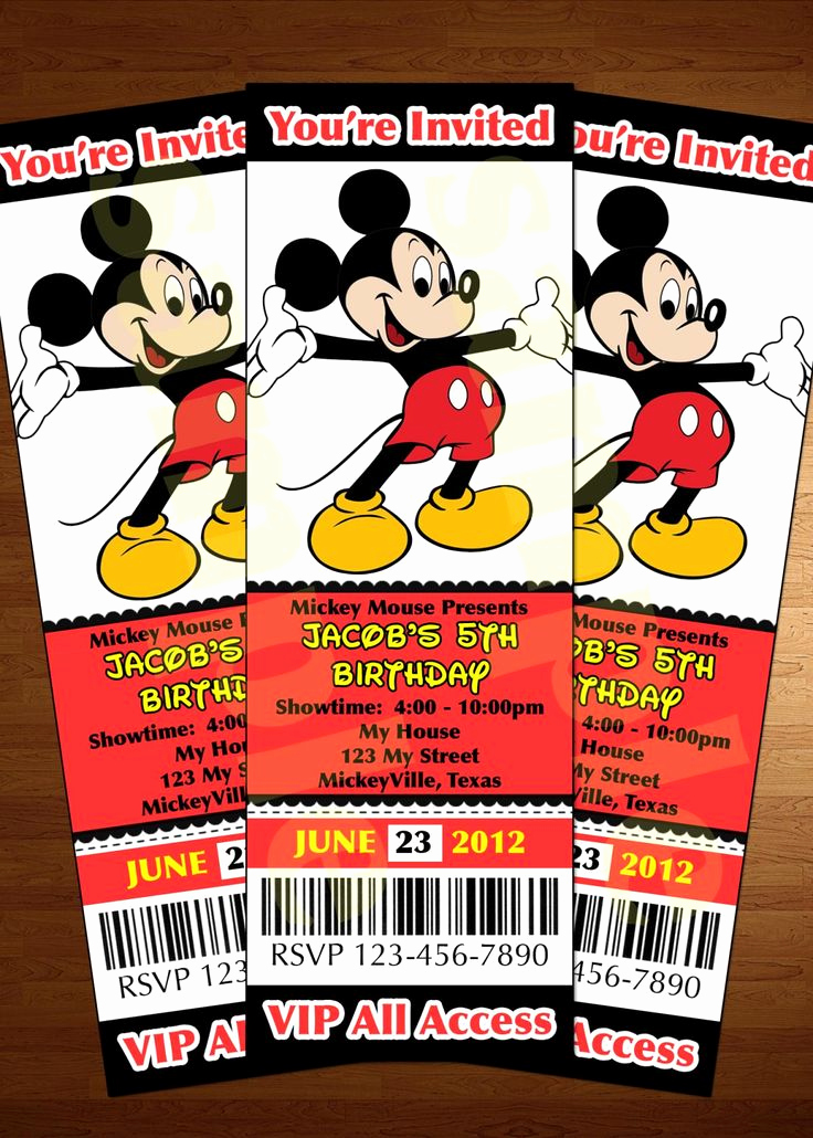 Mickey and Minnie Invitation Templates Best Of 220 Best Images About Mickey Mouse Party On Pinterest