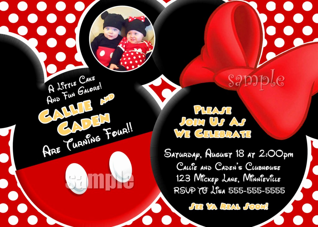 Mickey and Minnie Invitation Templates Best Of Mickey Mouse Clubhouse Birthday Invitations Ideas