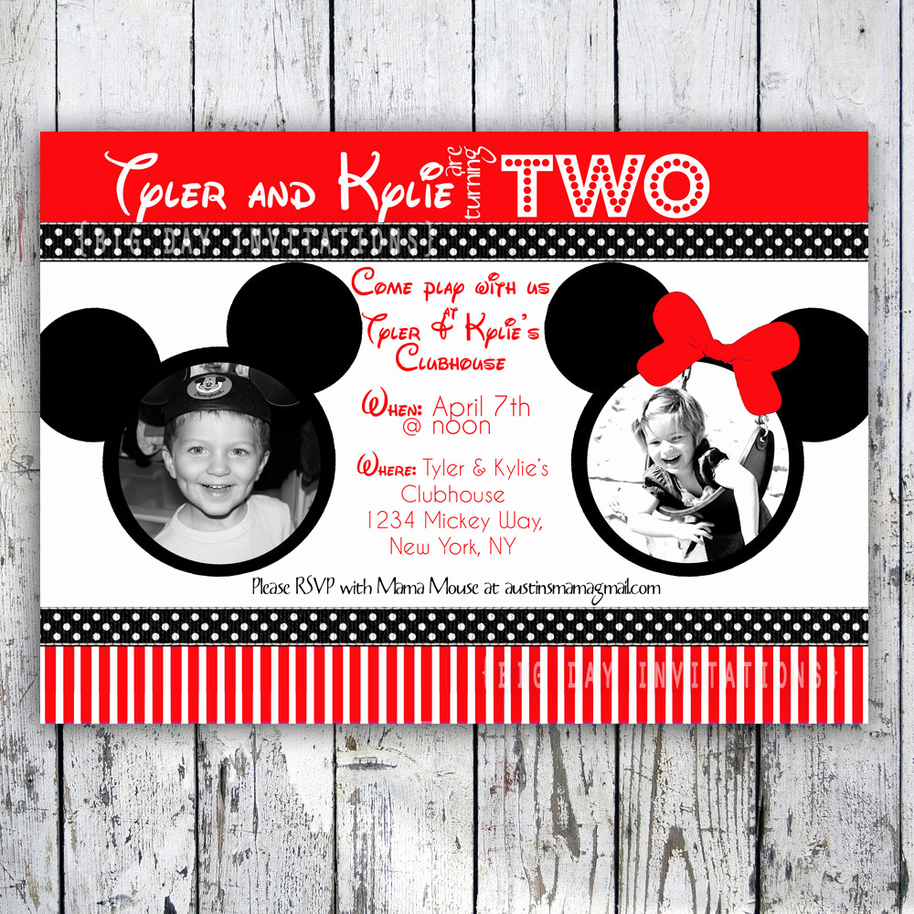 Mickey and Minnie Invitation Templates Inspirational Minnie Mouse Printable Birthday Invitations