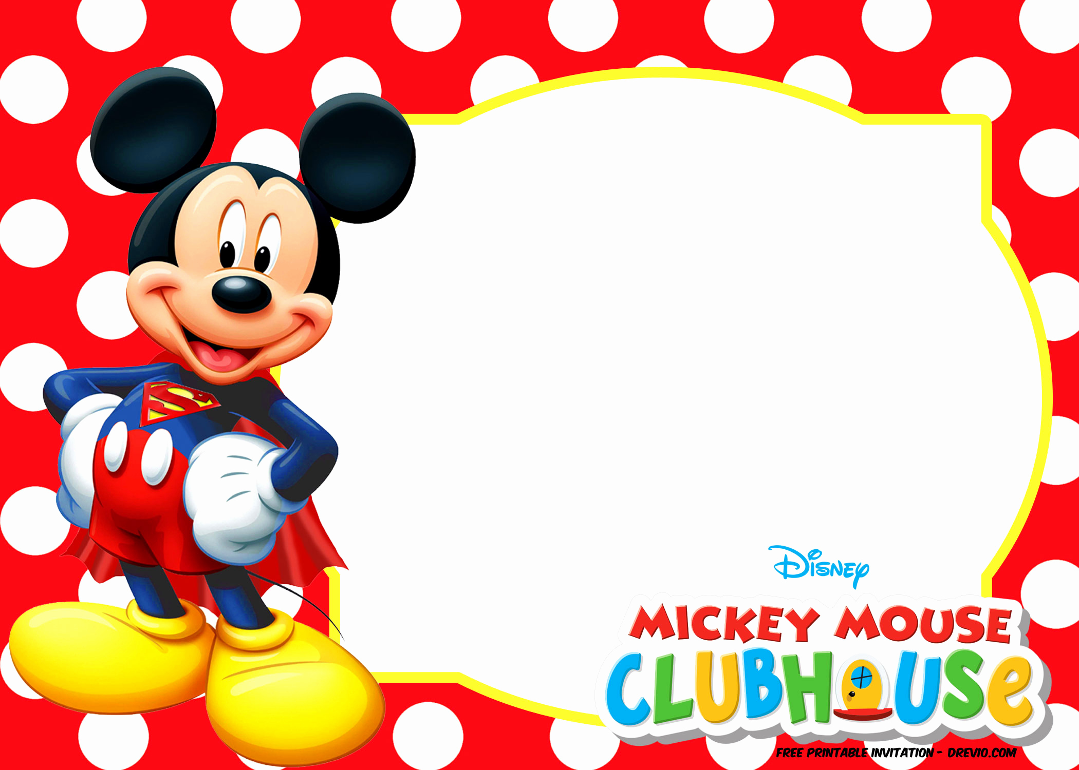 Mickey and Minnie Invitation Templates Luxury Free Mickey Mouse Summer Birthday Invitations
