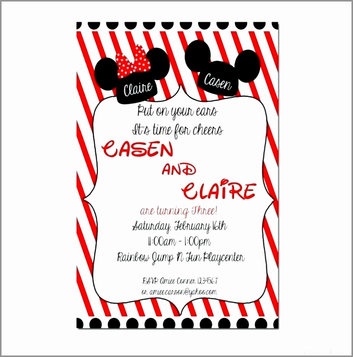 Mickey and Minnie Invitation Templates New Mickey Mouse Invitation Maker Enom Warb Printable Mickey