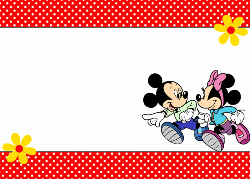 Mickey and Minnie Invitation Templates New the Largest Collection Of Free Minnie Mouse Invitation