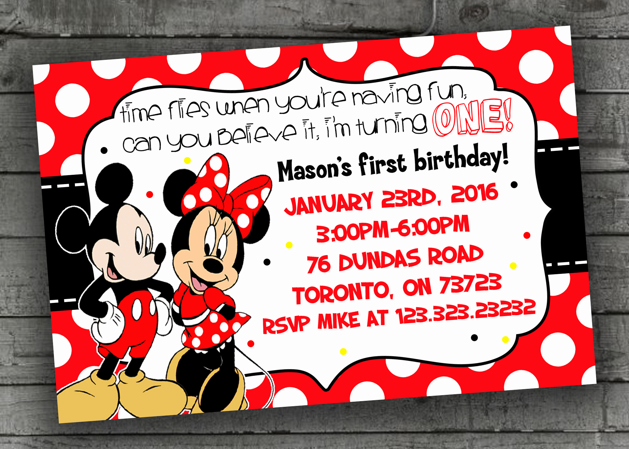 Mickey and Minnie Invitation Unique Mickey & Minnie Mouse Party Invitations Kids Party