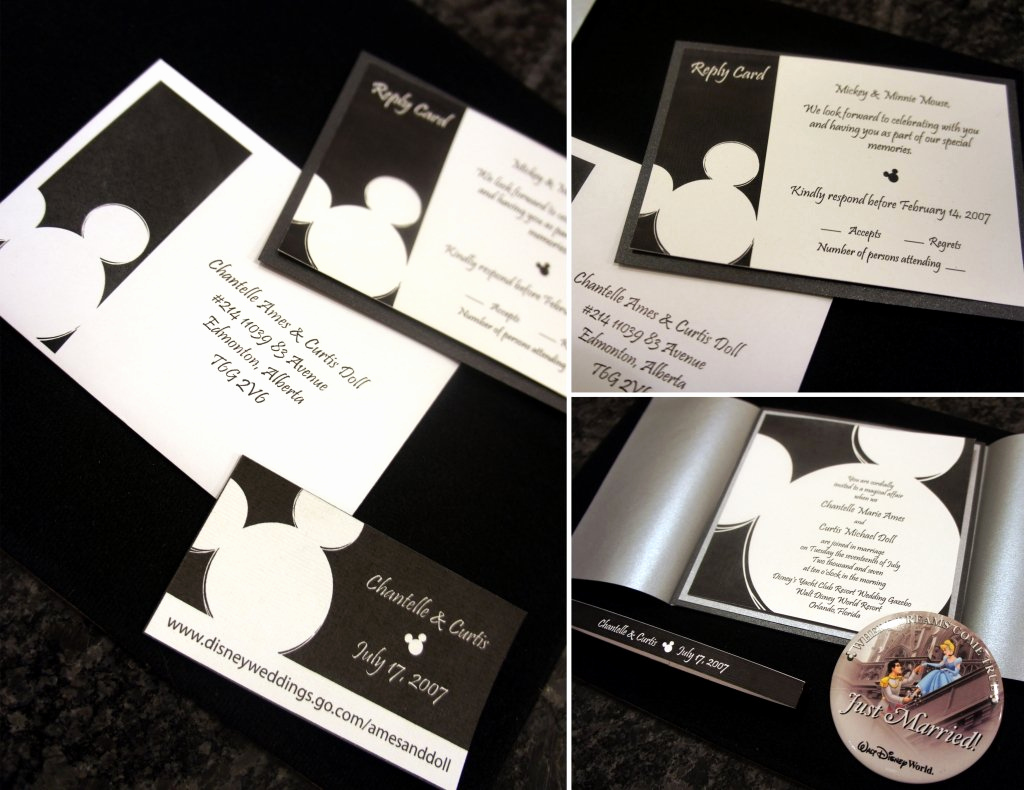 Mickey and Minnie Wedding Invitation Awesome Mickey Wedding Invitations
