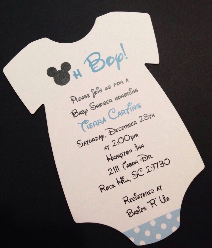 Mickey Mouse Baby Shower Invitation Beautiful Blue Mickey Mouse Esie Baby Shower Invitation All