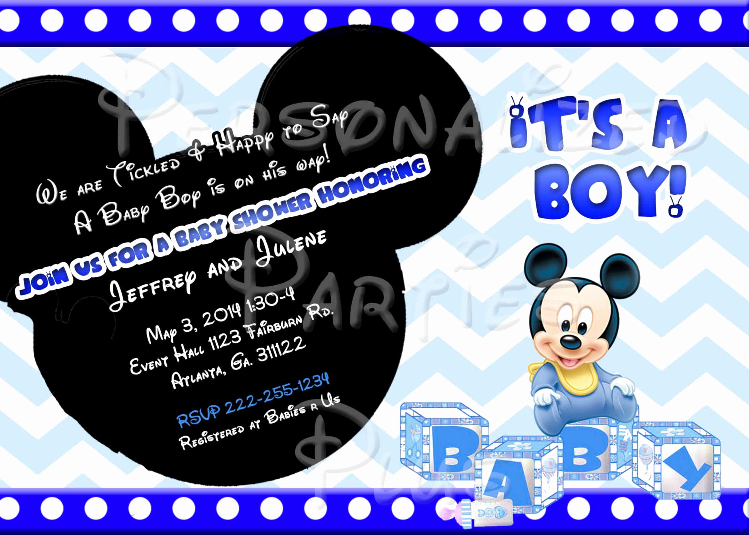 Mickey Mouse Baby Shower Invitation Best Of Baby Mickey Mouse Baby Shower Invitation Downloaded by
