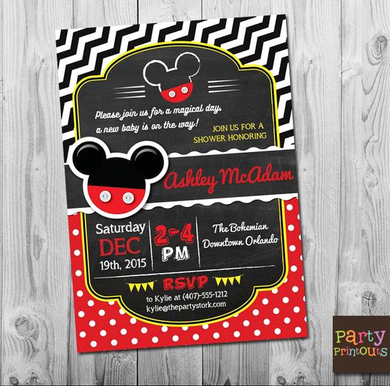Mickey Mouse Baby Shower Invitation Fresh Mickey Mouse Baby Shower Invitations Mickey Mouse Baby